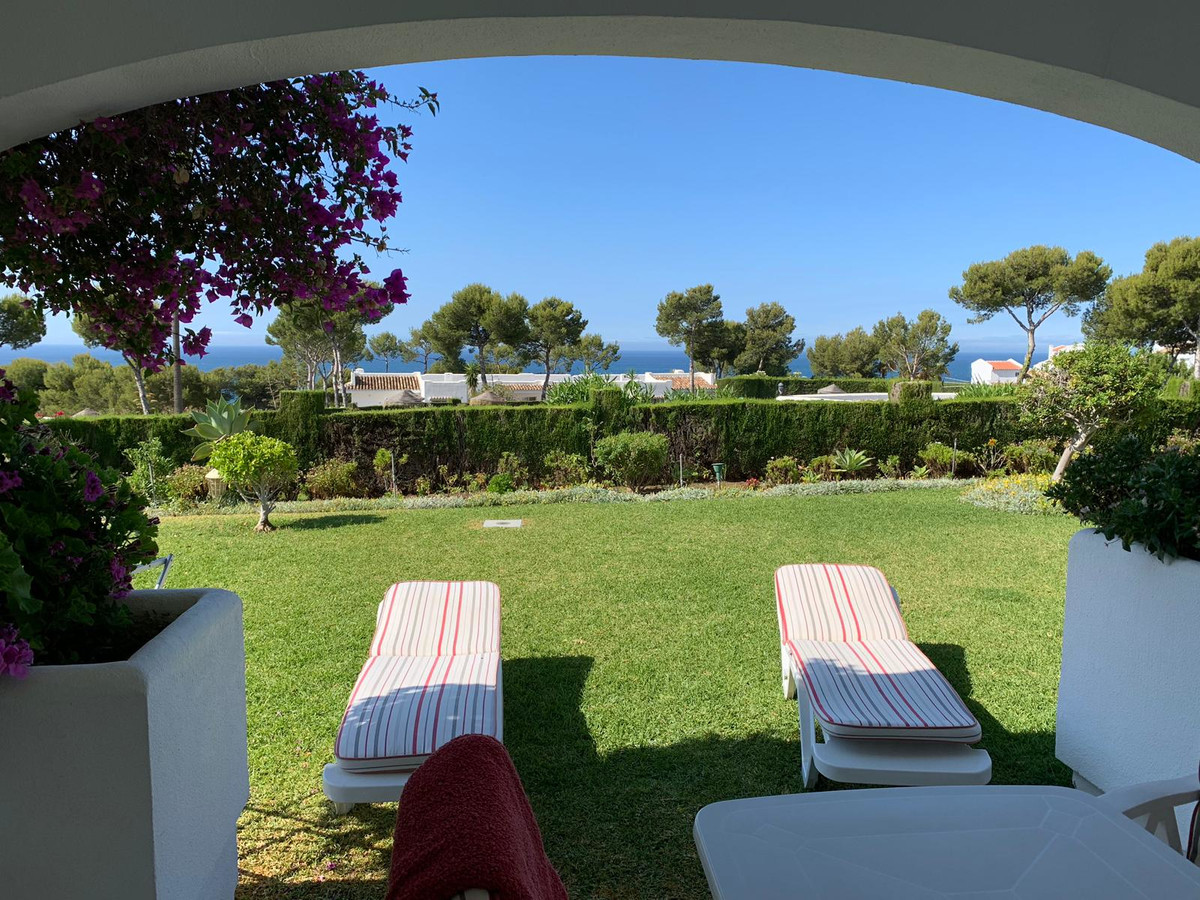 MAGNIFICENT  SEA VIEWS. BEST PROPERTY IN LUXE MIRAFLORES COMPLEX, RIVIERA from this  2 bedroom 2 bat,Spain