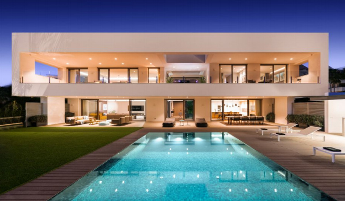 Villa  - Brand New Modern . Frontline Golf  Villa with Sea Views . What can be better than modern ar,Spain