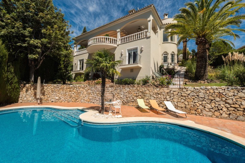 Excellent quality villa located in the gated community of Marbella Hill Club. South to west facing w, Spain