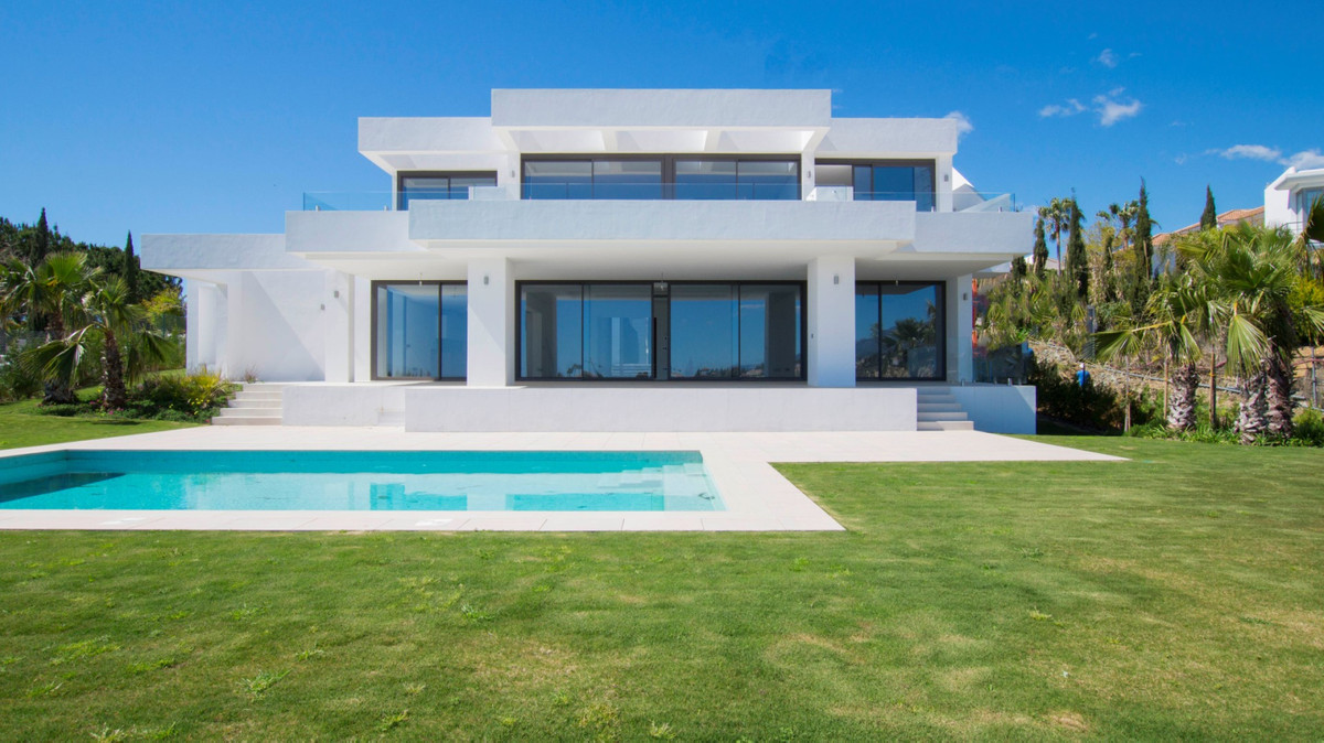 CONTEMPORARY VILLA WITH SEA VIEWS IN LOS FLAMINGOS Spectacular brand new villa, located in one of th,Spain