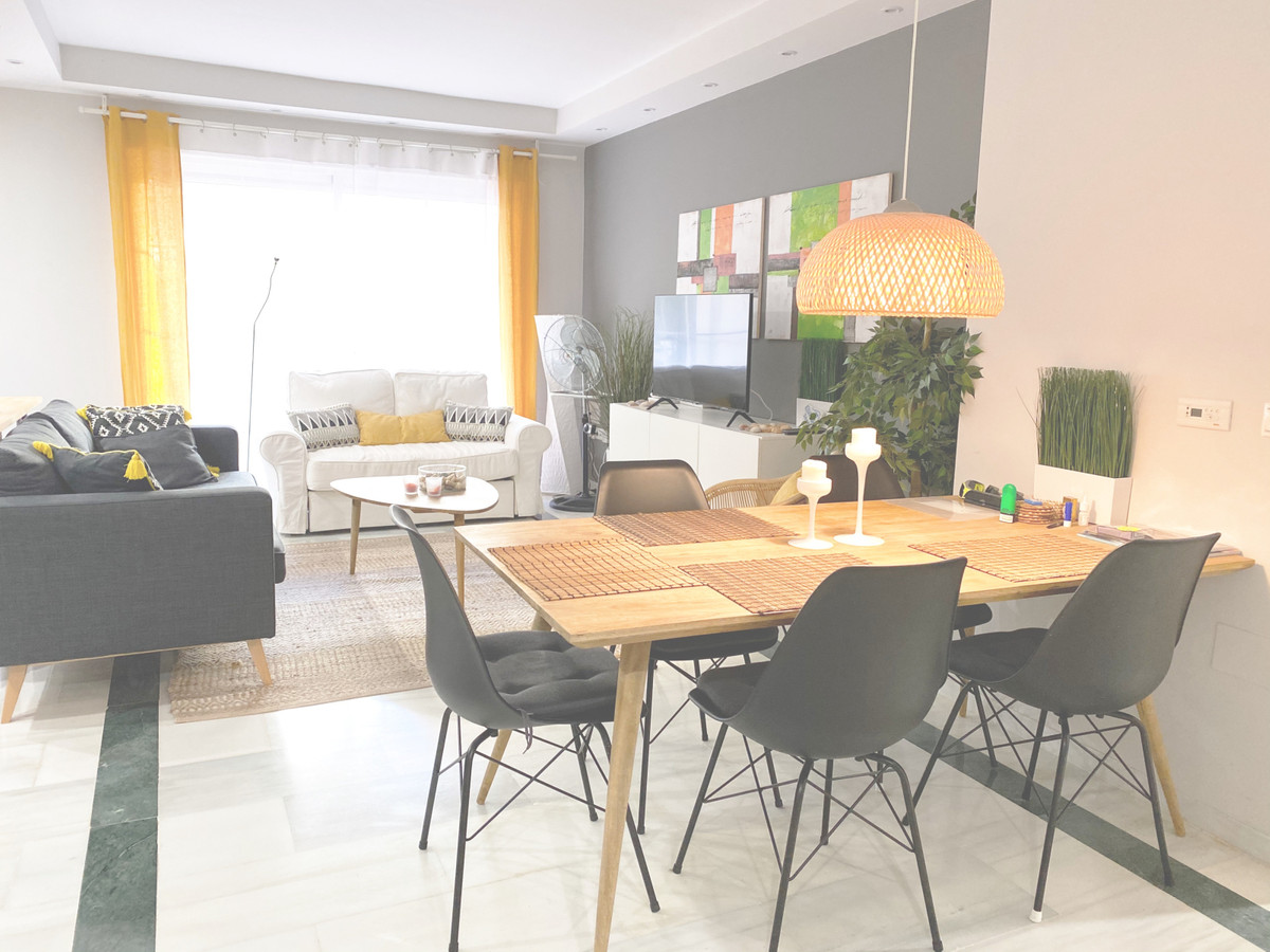 A modern and cosy two bedroom apartment in a quiet urbanisation in Elviria's second beach line.,Spain