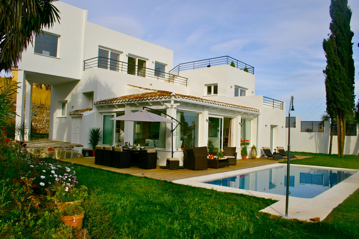 Modern design, quality villa with excellent panoramic sea views in Marbella East, ideal as second ho,Spain
