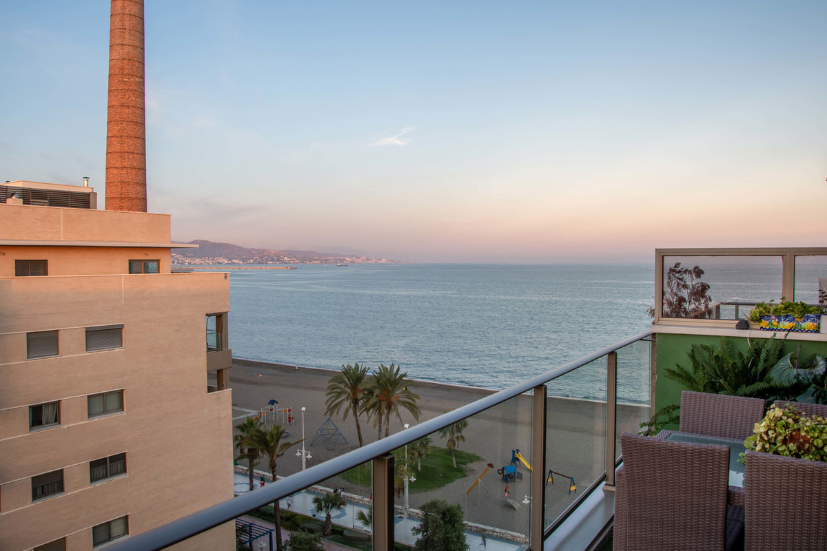 Spectacular 1st line beach penthouse with sea views in the Pacifico area.  This is a one of a kind p,Spain