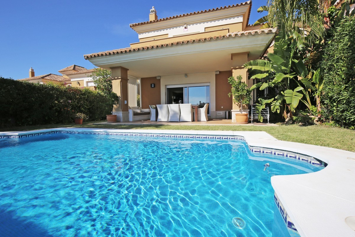 Immaculate three bedroom, south facing, front line golf villa with a private garden and swimming poo, Spain