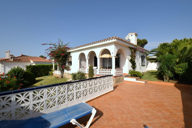 Charming villa with excellent sea views situated in El Faro close to the community swimming pool. Co, Spain