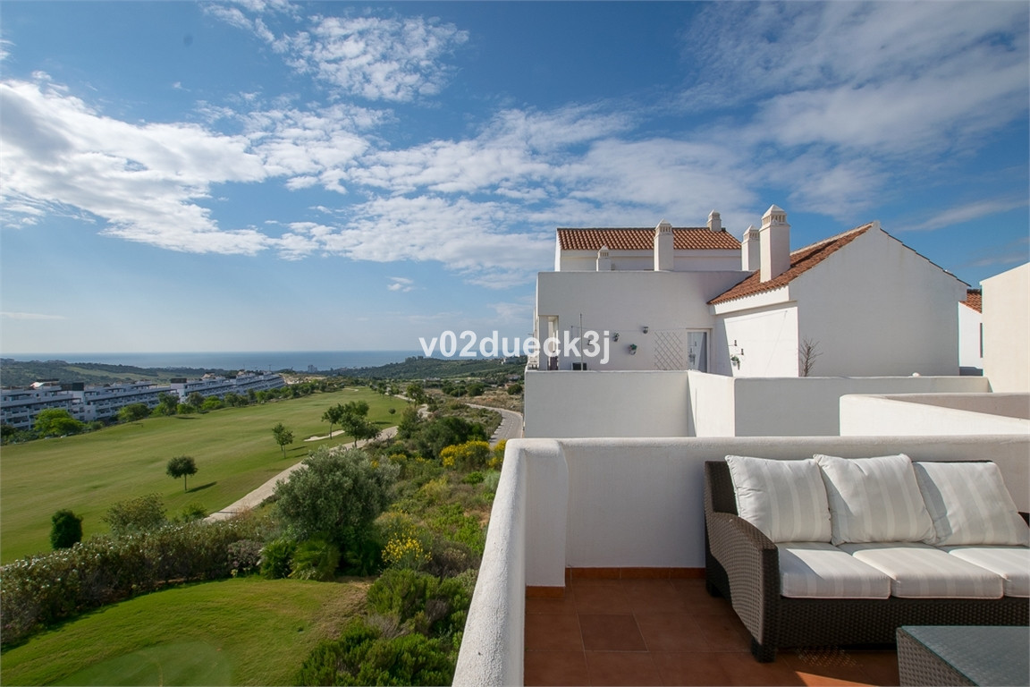 A really nice two bedroom penthouse with large terrace and a lovely view of the golf course, mountai,Spain