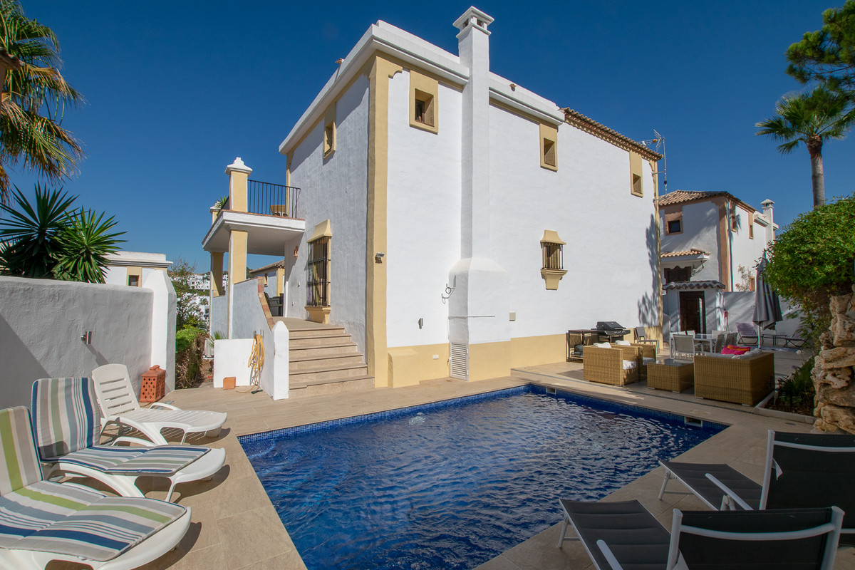 The villa is located in a cosy gated community, next door to La Resina Golf and its lovely clubhouse, Spain